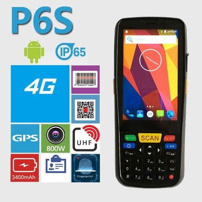 Customized Inventory Android Industrial PDA Handheld 8GB+1GB Memory
