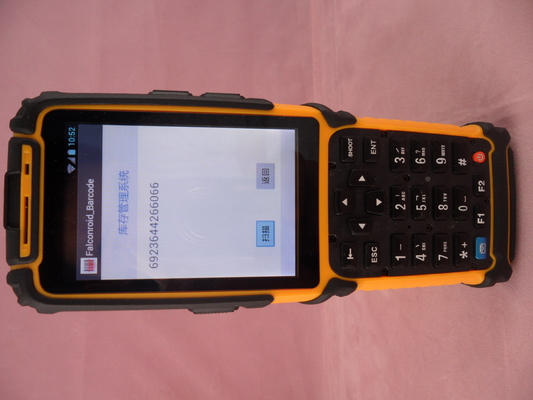 Industrial Android Handheld PDA Devices Battery Capacity 3800mAh Classic Design