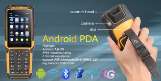 Handheld PDA Devices IP 64 Industrial Protection Level 1GB+8GB Memory
