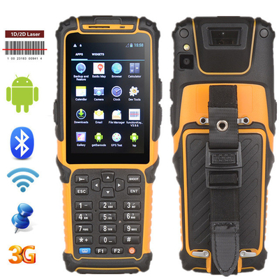 IP64 Rugged WIFI Handheld PDA Devices RFID Reader Laser Barcode Scanner