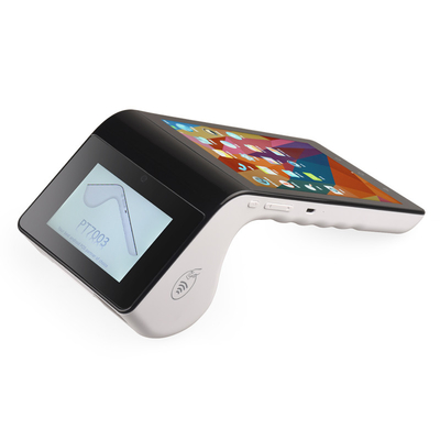 Dual Screeen Mobile POS Terminal Credit Card Android Payment Systems Bluetooth 4.0